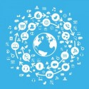 Internet Social Media Globe Blue
