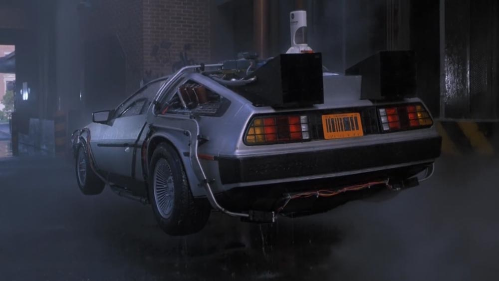 Barcode license plates in Back to the Future II
