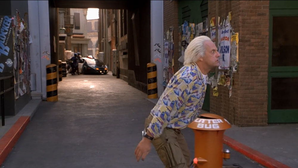 Robotic trash cans in Back to the Future II