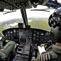 Griffin Helicopter Practices Approach to RAF Shawbury