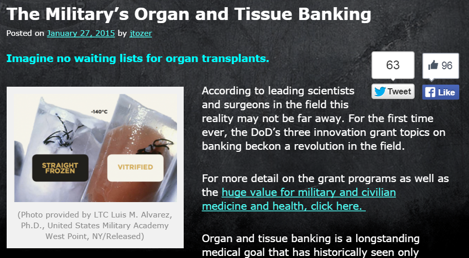 TSA blog organ banking