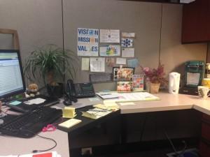 Sabrina desk setup