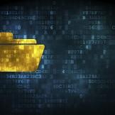 Business concept: Folder on digital background