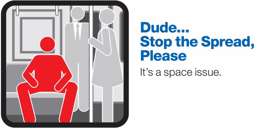MTA New York City manspreading ad