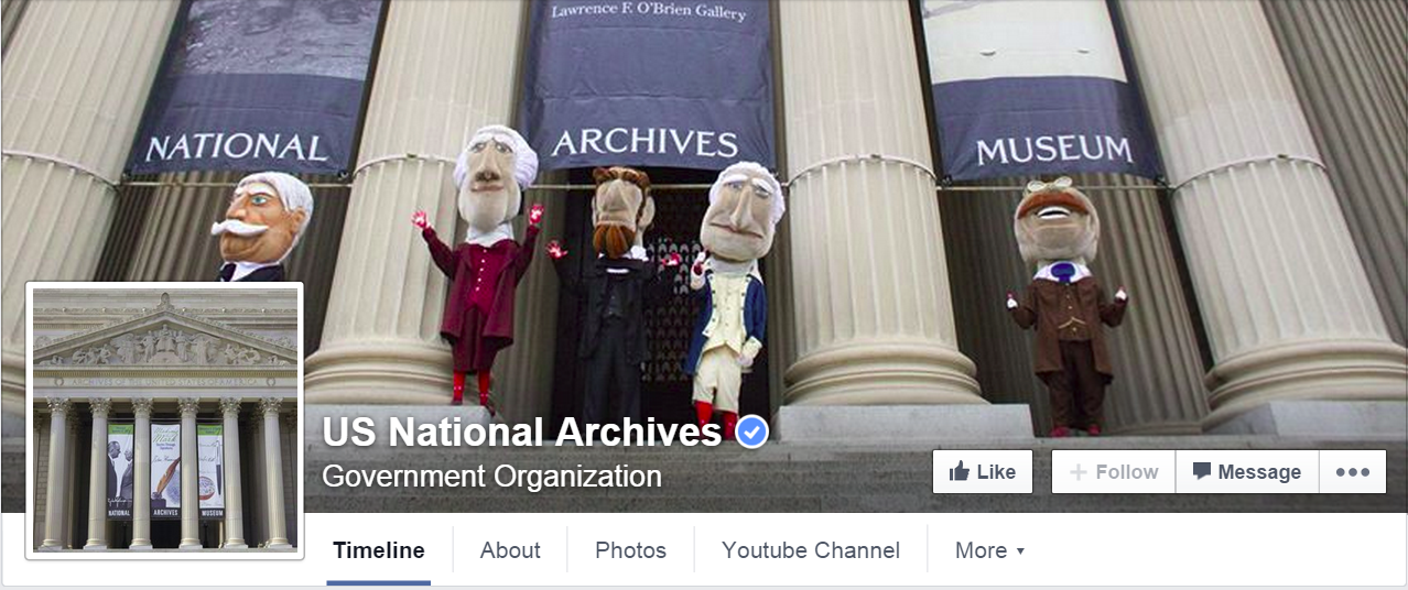 National Archives Ffacebook cover image