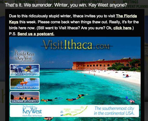 Visit Ithaca Key West website funny