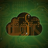 Cloud on circuit background