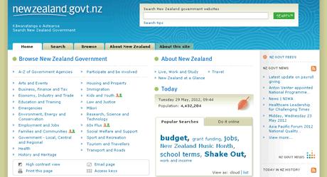 Image of the original website design in 2007.