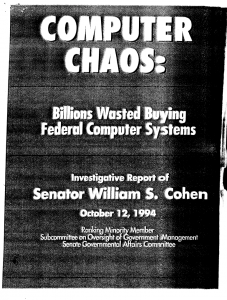 1994's Computer Chaos report