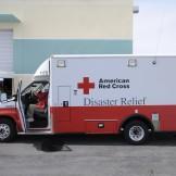 Hurricane relief truck