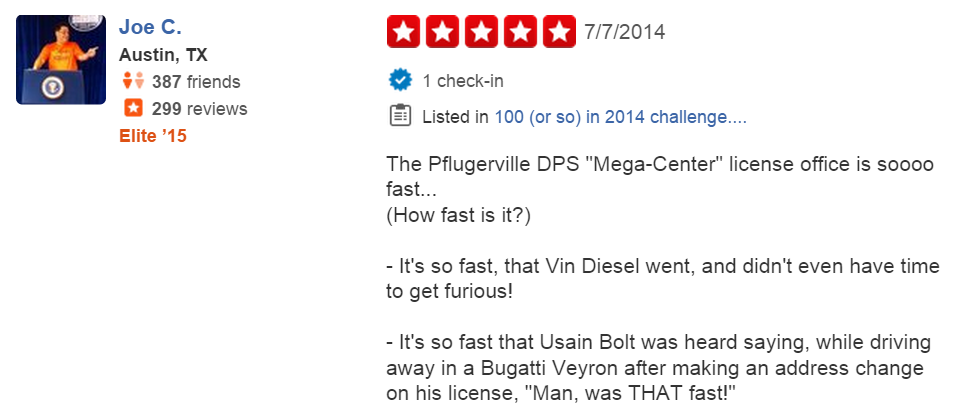 funny-yelp-review-texas-dept-public-safety-pflugerville