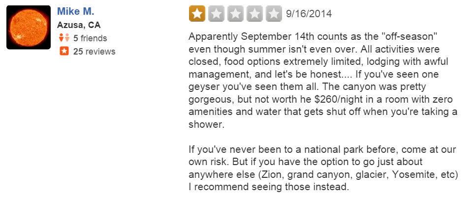 funny-yelp-review-yellowstone-national-park