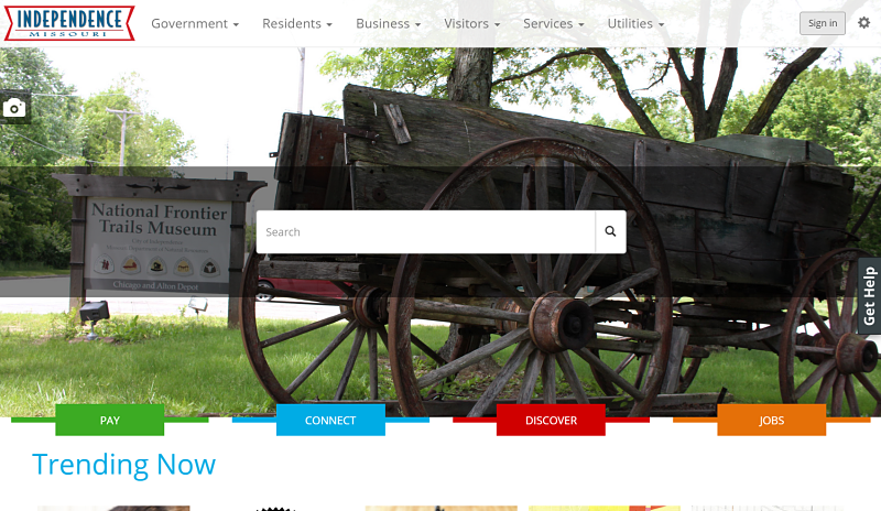 Independence, Missouri screenshot best government websites