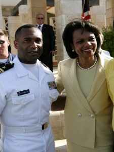 J. Gregory Richardson with former Secretary of State Condoleezza Rice