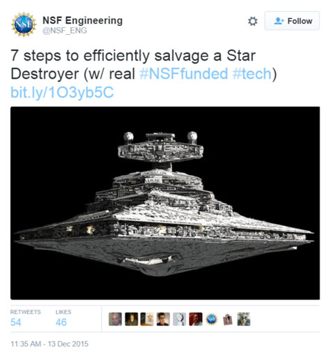 National Science Foundation Engineering Directorate Star Wars