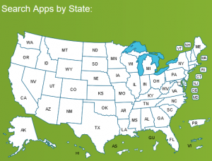 State Mobile Apps Catalog produced by the National Association of State Chief Information Officers (NASCIO).