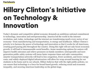 Clinton's gov IT initiative