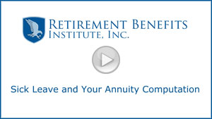 how unused sick leave impacts your retirement annuity community