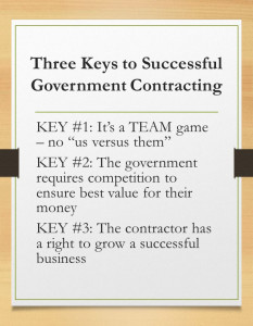 Three Keys in Successful Government Contracting
