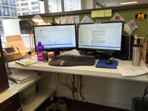 A visual of a typical writer's desk