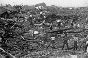 1900 Galveston Hurricane devestation