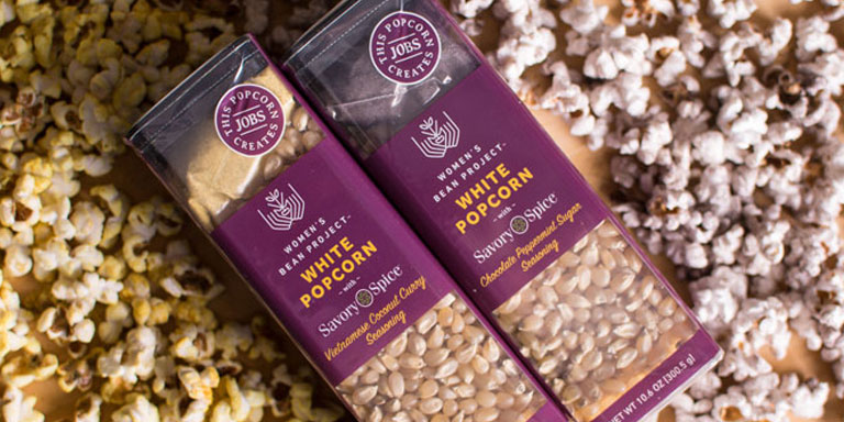 holiday gift ideas Women's Bean Project Flavored popcorn