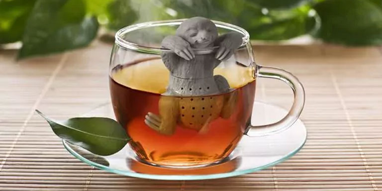 holiday gift ideas sloth tea infuser