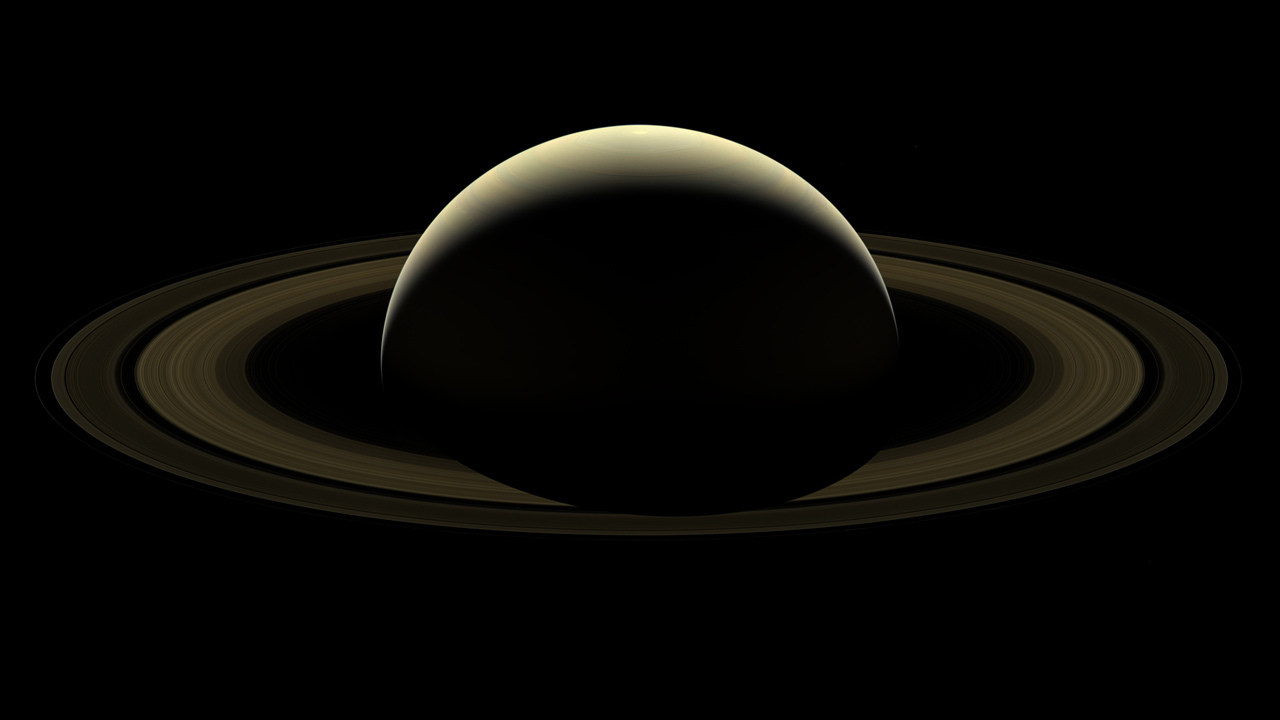 Photo of Cassini's final compete picture of Saturn