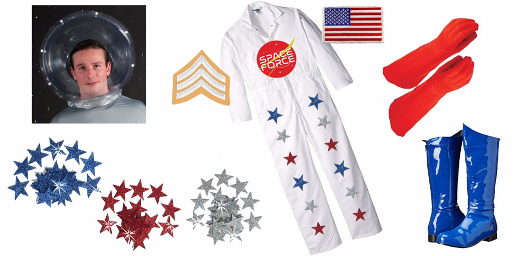 easy Halloween costume idea, government costume theme, Space Force