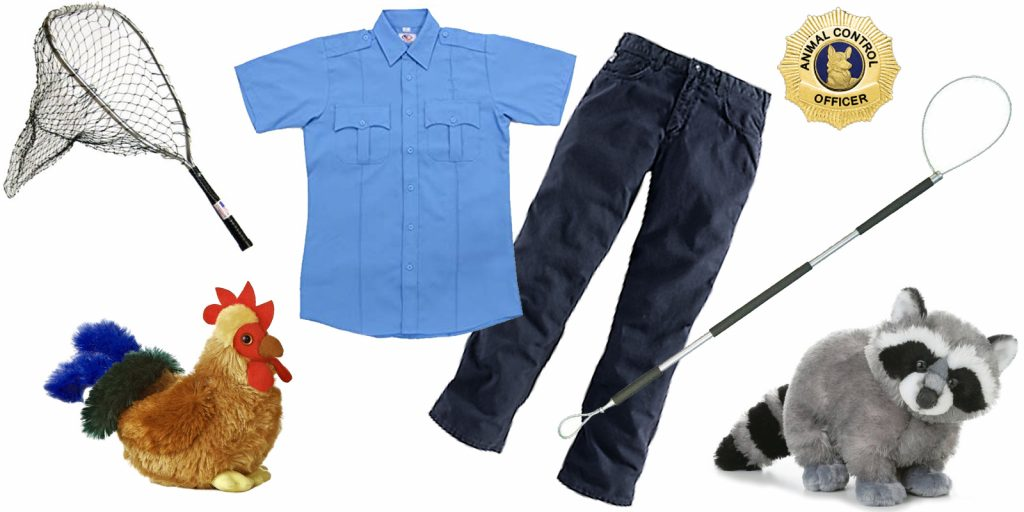 easy Halloween costume idea, government costume theme, Animal Control Officer rescue