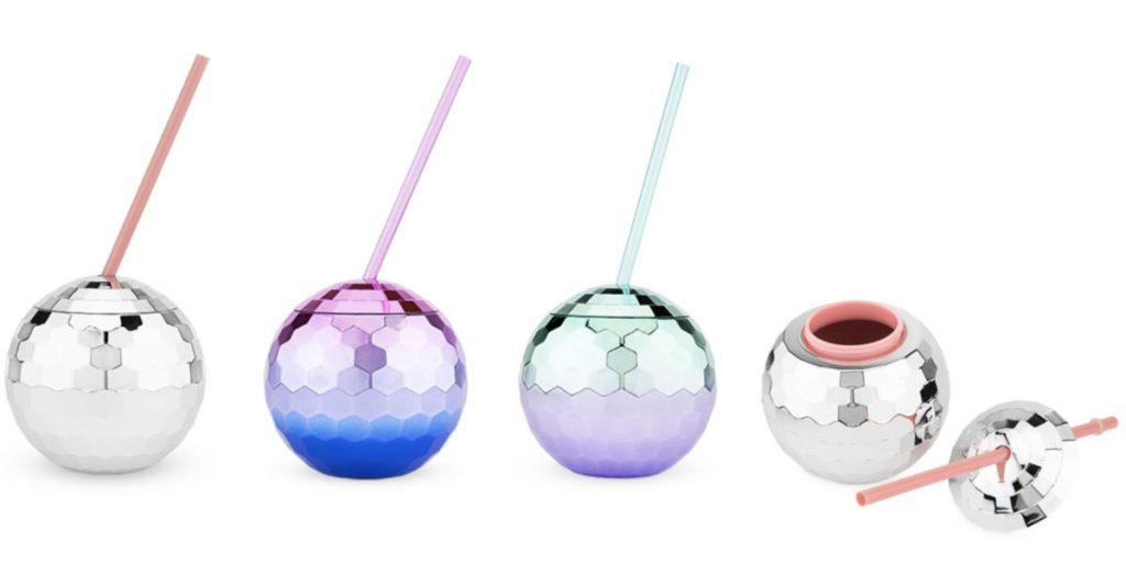 drink tumblers shaped like disco balls