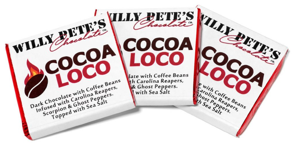 Cocoa Loco extra spicy chocolate bar by Willy Pete and Fuego Box