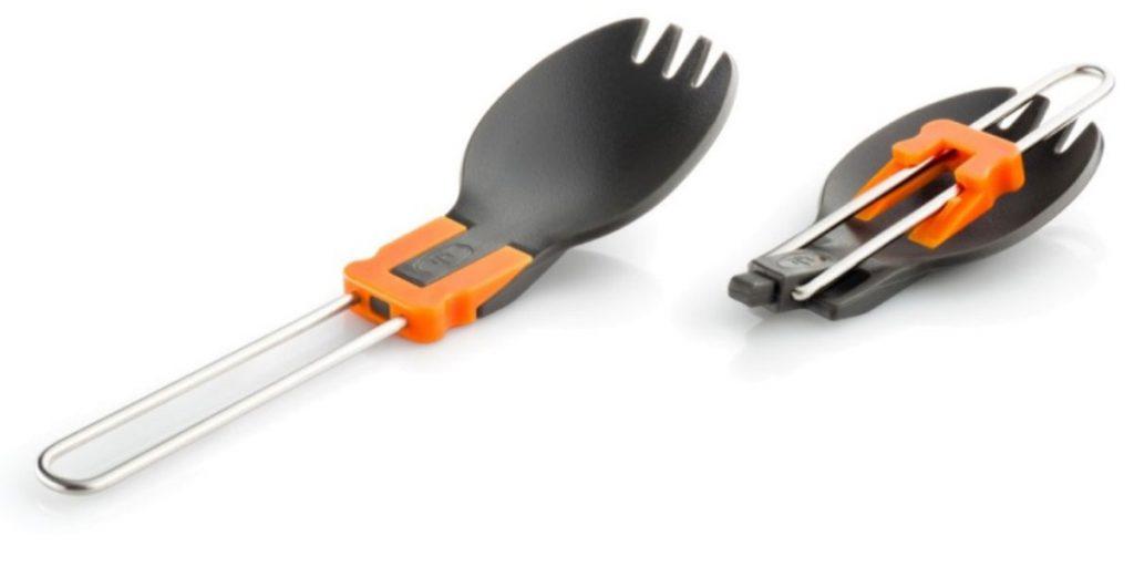 folding foon, a spoon fork combination