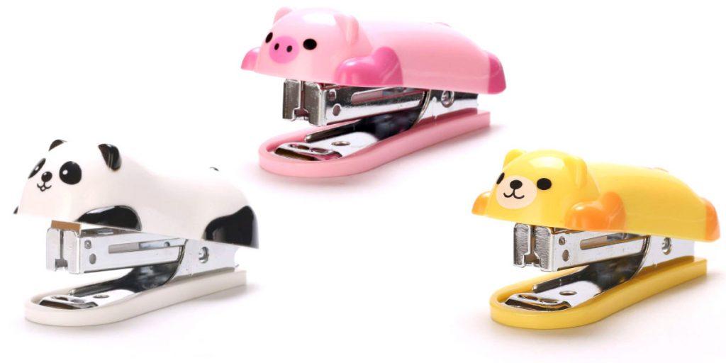 mini staplers shaped like cute animals