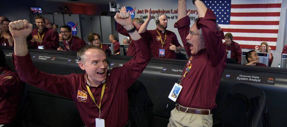 Mars InSight lander team celebrates successful landing