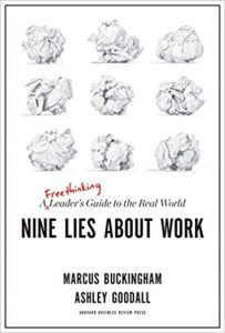 book cover of Nine Lies About Work by Marcus Buckingham and Ashley Goodall