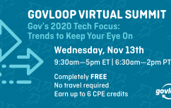 image link for Nov. 13 – Gov's 2020 Tech Focus: Trends to Keep Your Eye On