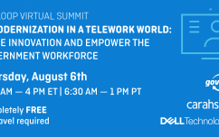 image link for Aug. 6 – Virtual Summit: IT Modernization in a Telework World