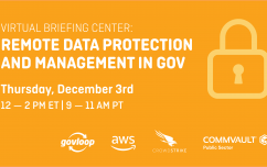 image link for Dec. 3 – Virtual Briefing Center: Remote Data Protection and Management in Gov