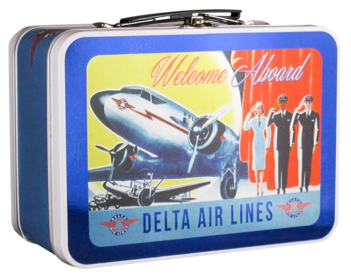 retro Delta Air Lines lunch box