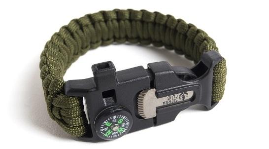 Sierra Club paracord survival bracelet